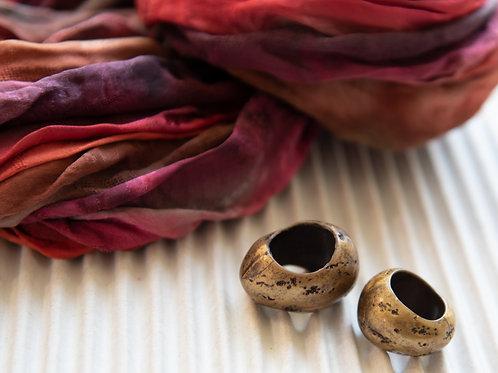 Perles ornemantales en résine, set à 2 pièces