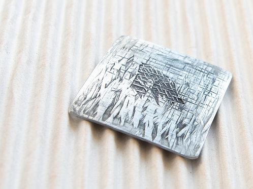 broche magnétique en titane, XL, env. 4,5x4,5cm