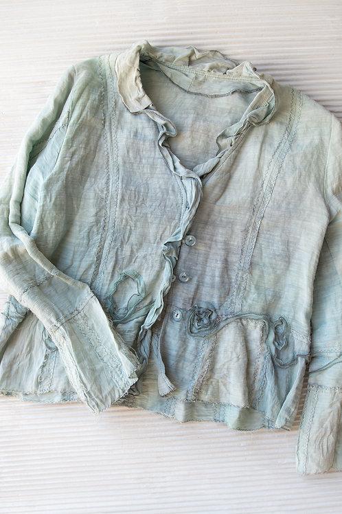 veste en soie/chanvre, grandeur M en stock