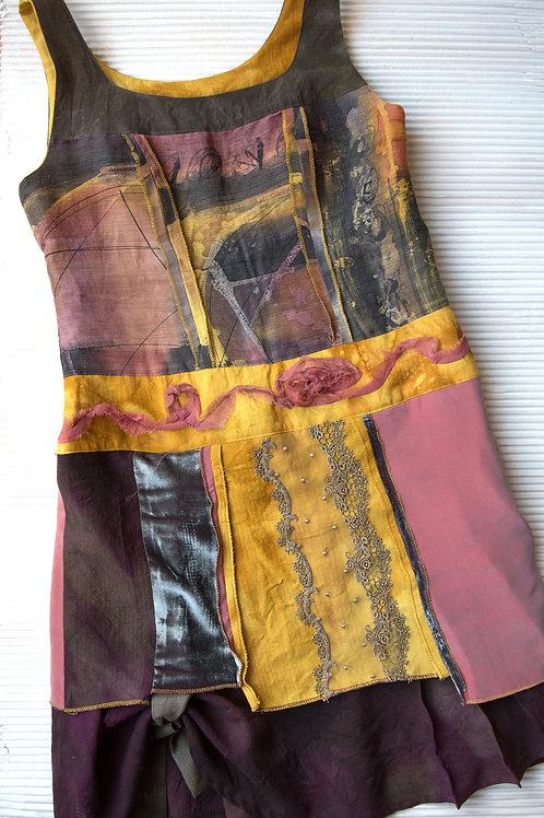 Tunikakleid aus Wolle, Hanf und Seide, verkauft, auf Bestellung