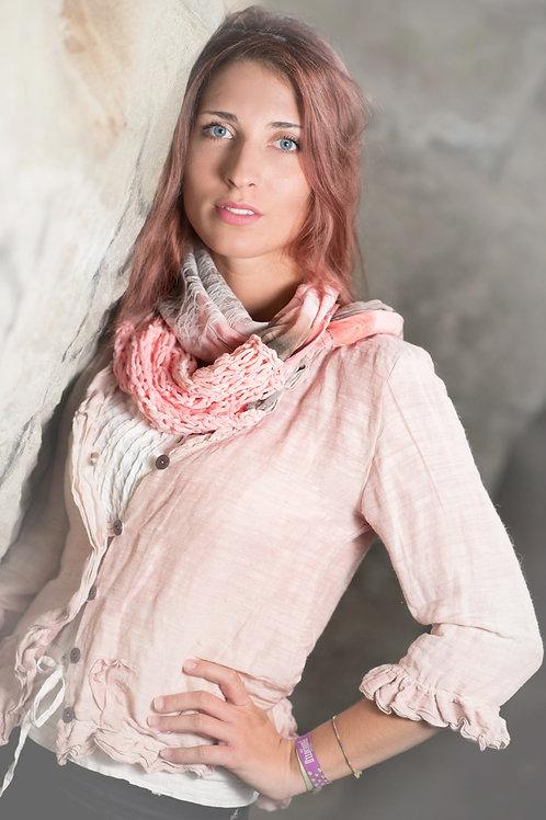 blouse en soie en chanvre/soie