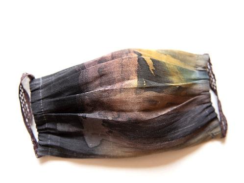 masque de protection en chanvre / soie, peint à la main