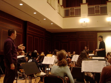 Teaching at the International Conductors Workshop.