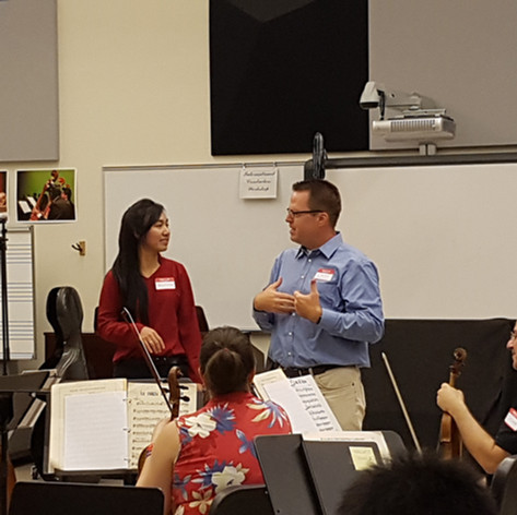 Teaching at the International Conductors Workshop