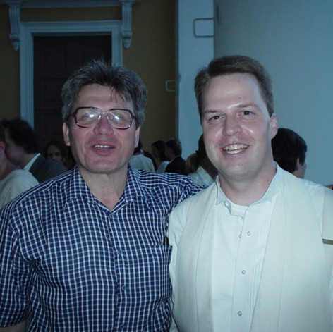 With Peter Gribanov conductor of the Saint Petersburg Philharmonic Congress Orchestra, Russia.