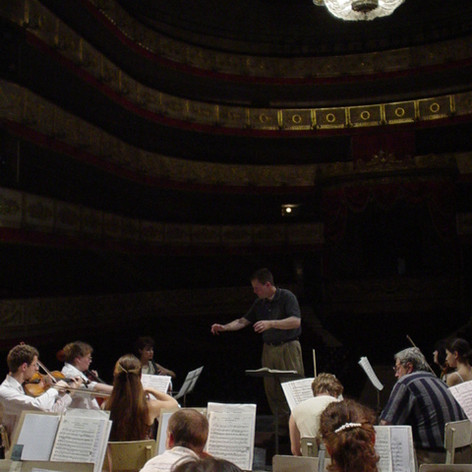 In rehearsal at the Alexandrinsky Theatre in Saint Petersburg, Russia.