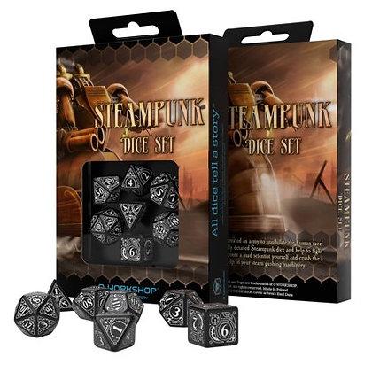 Steampunk Dice Set Black/White (7)