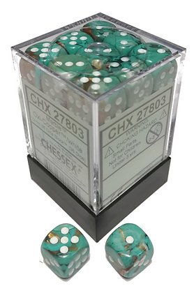 Dice Menagerie 10: 12mm D6 Marble Oxi Copper (36)