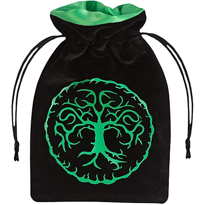 Dice Bag: Forest Black/Green Velour