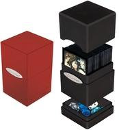 Satin Tower Deck Box: Red