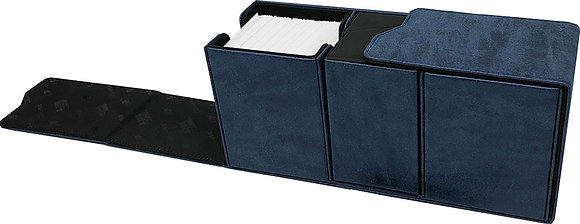 Alcove Vault Deck Box: Suede Collection - Sapphire