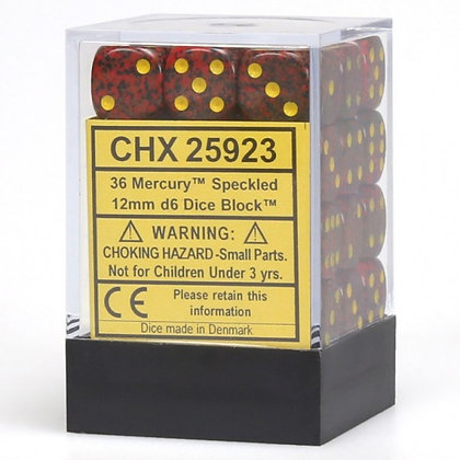 Mercury 12mm D6 Dice Block (36)
