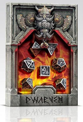 Metal Dice Set: Dwarven (7)