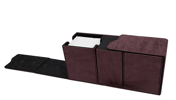 Alcove Vault Deck Box: Suede Collection - Ruby