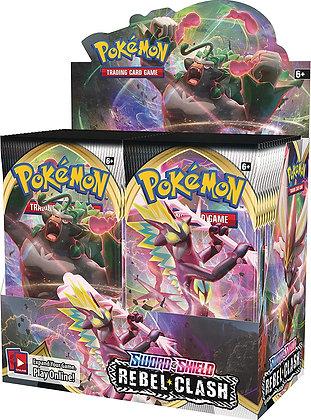 Pokemon TCG: Sword & Shield - Rebel Clash Booster Display Box