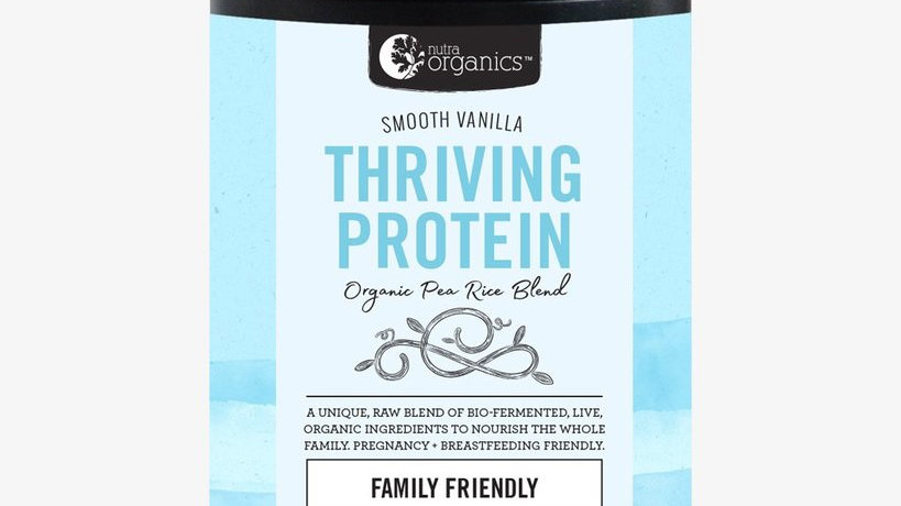 NutraOrganics Thriving Protein Smooth Vanilla 450gm