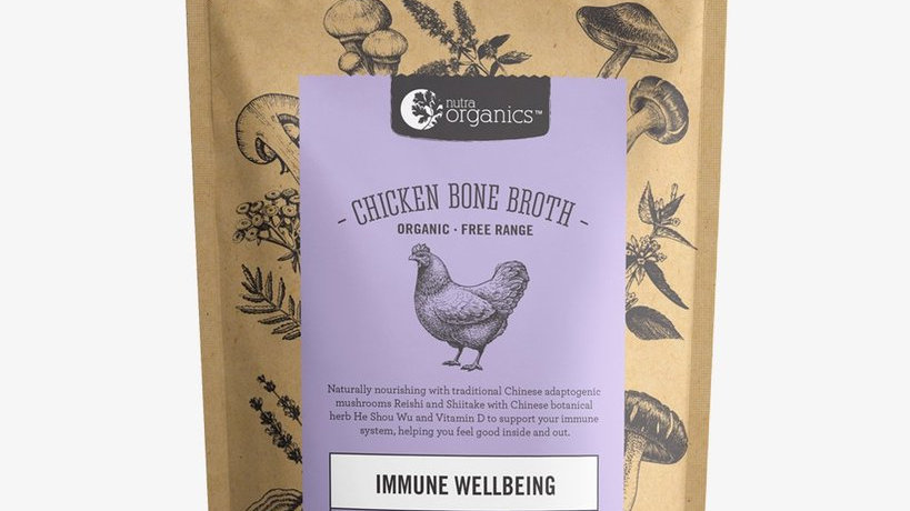 NutraOrganics Chicken Bone Broth Homestyle Mushroom 100gm