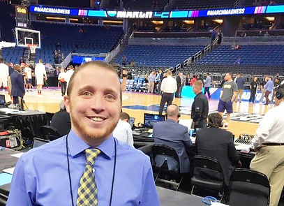 Anderson Terry working audio/visual at sporting event