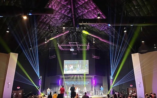 Stage lighting at Community Bible Church Fort Smith