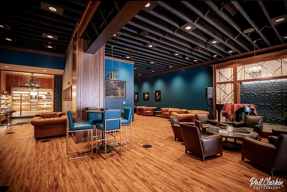 Interior of 906 Cocktail and Cigar Lounge