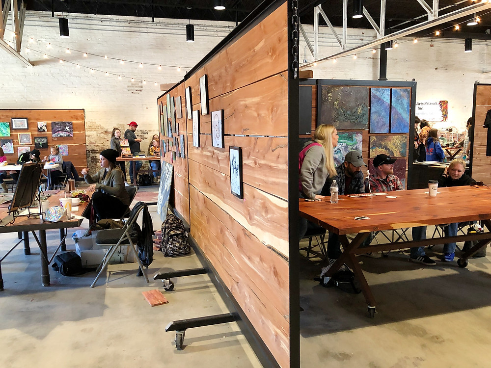 Partioned interior of event spaces