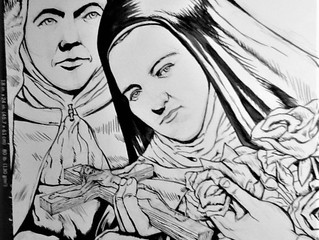 St. Therese and her Sister, Celine