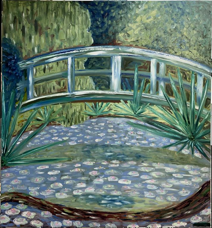Puente de Monet con agaves