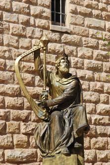 JERUSALÉN. ESTATUA DEL REY DAVID.