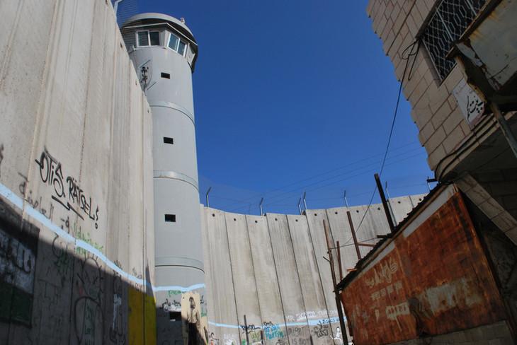 EL MURO QUE SEPARA ISRAEL Y PALESTINA.