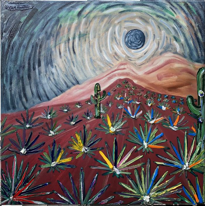 Campo de agaves abstracto