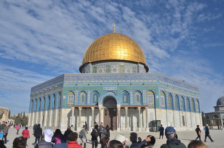 TIERRA SANTA. Jerusalén. LA CÚPULA DE LA ROCA EN LA EXPLANADA DEL TEMPLO.