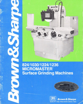 Brown & Sharpe MICROMASTER Grinder