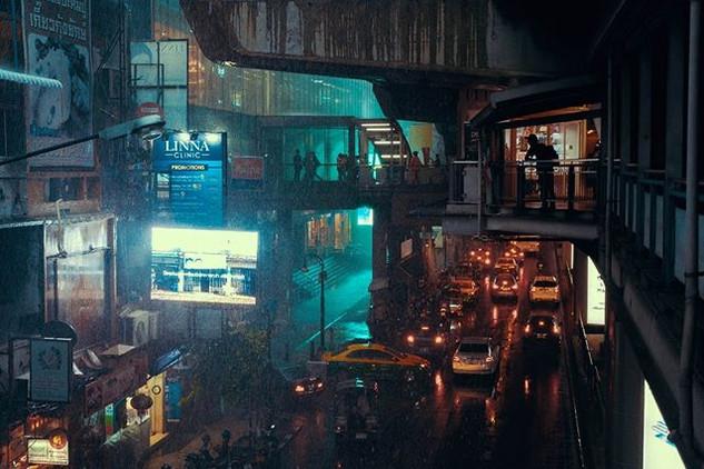 バンコク、雨も夜景も良い画になる。__#bangkok #night #nigh