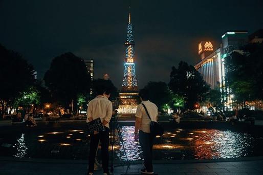At the Night Odori Park!!! #Hokkaidonigh