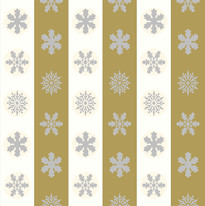 Snowflakes in Off White and Mustard Stripes.jpg