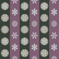 Snowflakes in Green and Mauve Stripes.jpg