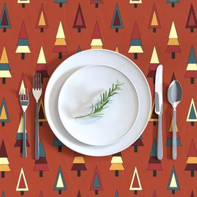 Inclusive Xmas tree tablecloth