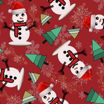 Happy Snowman in Ruby Red.jpg