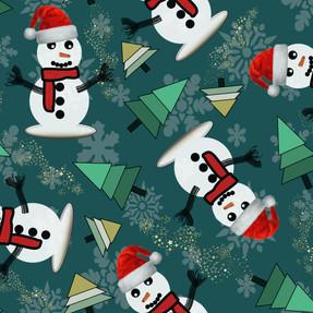 Happy Snowman in Slate Green