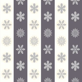 Snowflakes in Off White and Grey Stripes