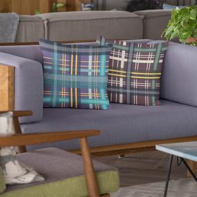 Modern Tartan cushions