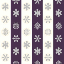 Snowflakes in Off White and Violet Stripes.jpg