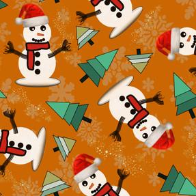 Happy Snowman in Seville Orange
