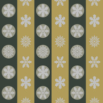 Snowflakes in Green and Mustard Stripes.jpg