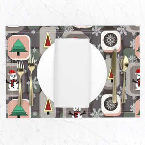 Xmas Gifts in Teal Placemats