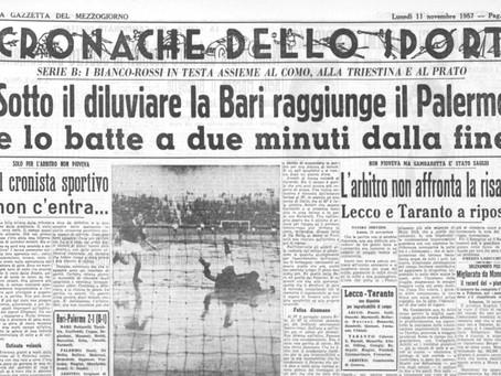 PALERMO, MAI SFIDATO IN SERIE C. IL NUBIFRAGIO DEL 1957