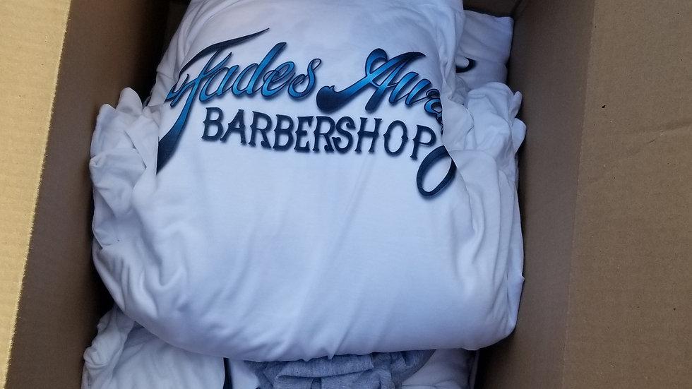 Fades Away Barbershop White T-Shirt