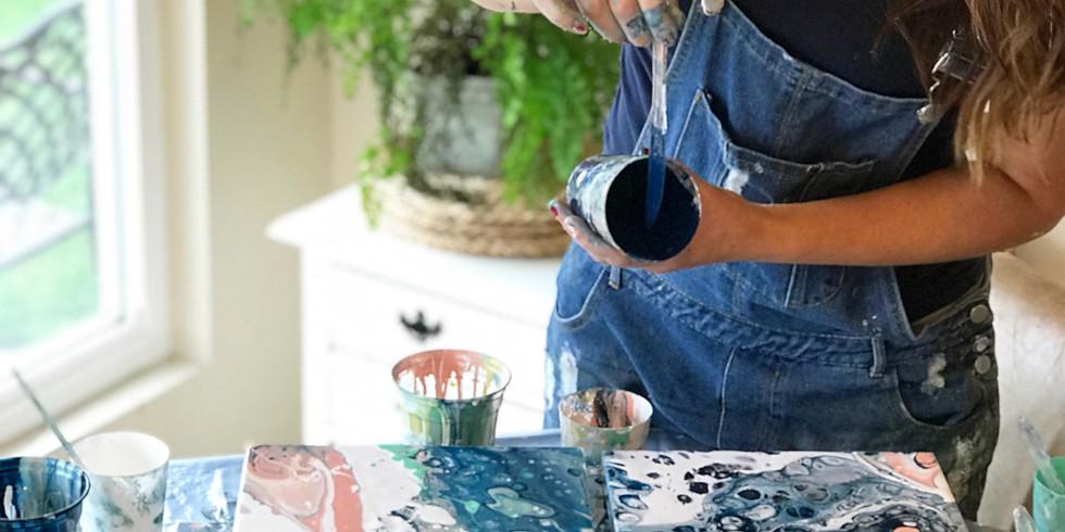 Fluid Pour Paint Workshop
