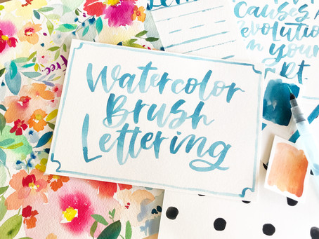 Watercolor Brush Lettering Class