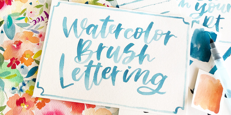 Watercolor Brush Lettering @ the Mint Studio, The Forum Carlsbad